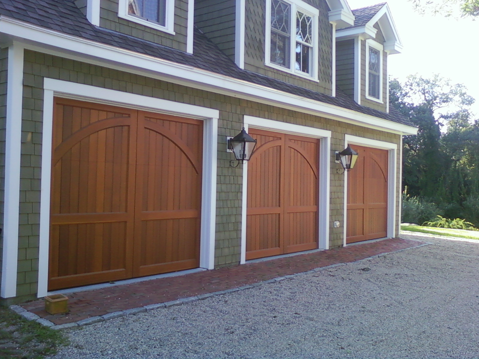 Custom built carriage house doors